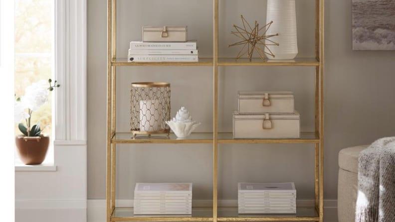 Bella-Aged-Gold-Bookcase