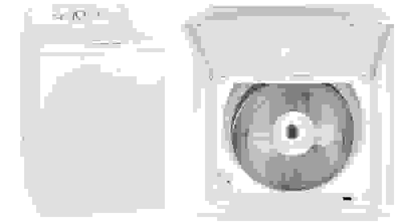 GE GTW335ASNWW top-load washing machine with pole agitator—full