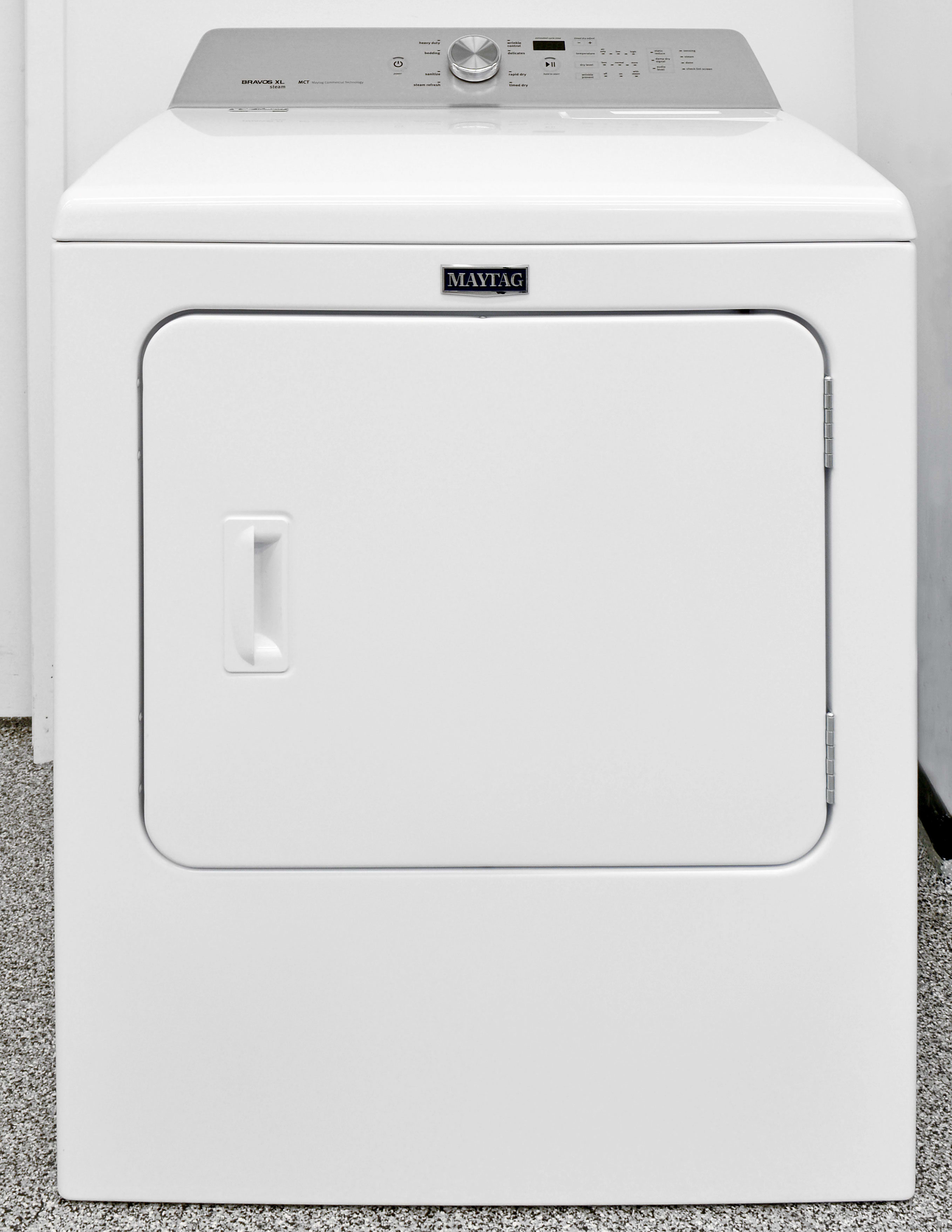 The Maytag Bravos MEDB755DW looks basic, but this dryer is a top-notch performer.