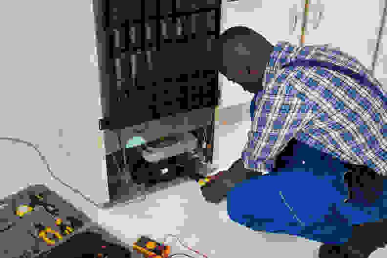Refrigerator condenser repair
