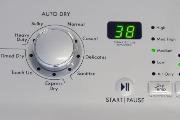 the controls of the Kenmore 68102