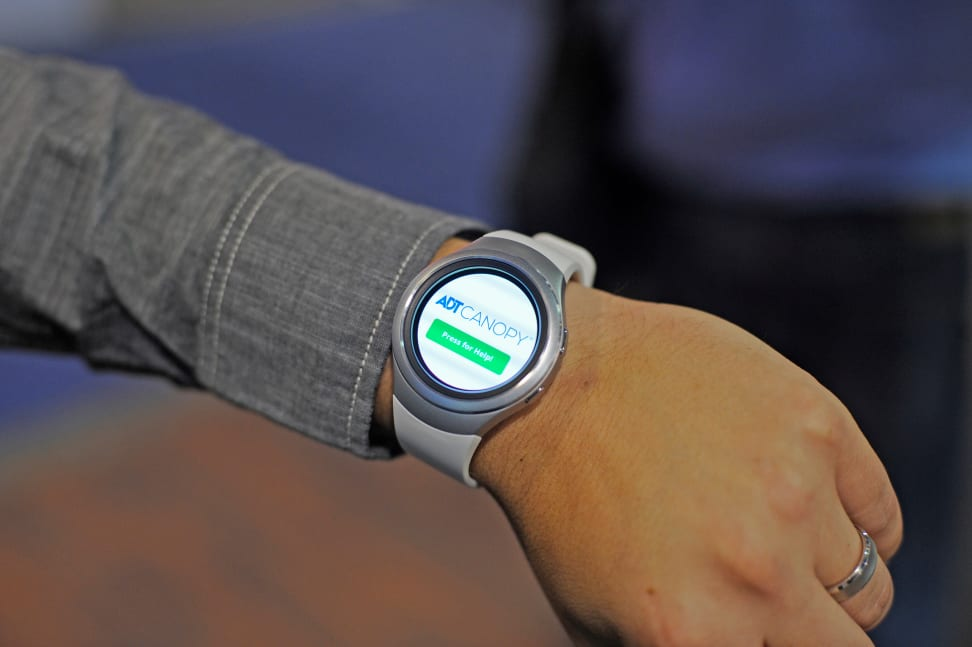 The ADT Canopy Panic app on the Samsung Gear S2 Watch