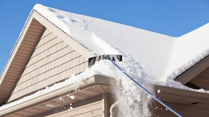 If you know that your roof is prone to dams, then raking the roof every time it snows can help prevent ice dams before they form.