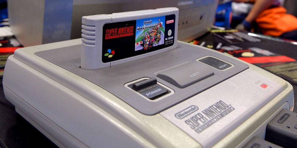 An SNES retro console at Gamescon 2014