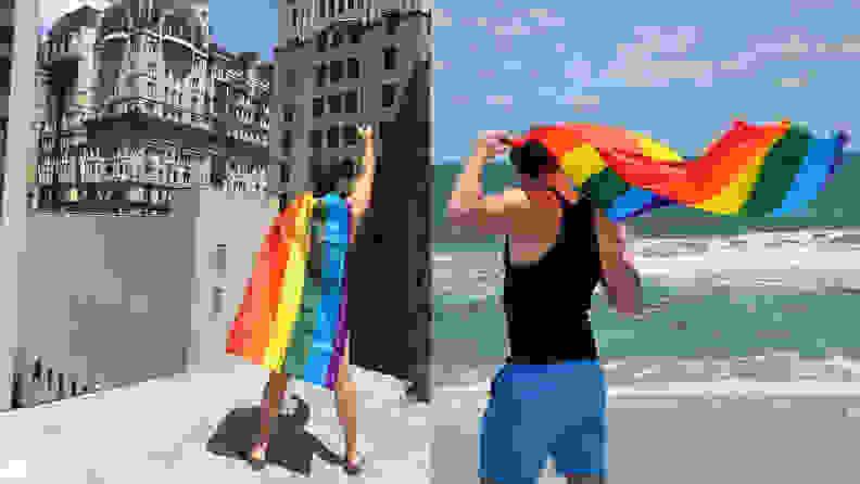 FreedomCapes Rainbow flag cape