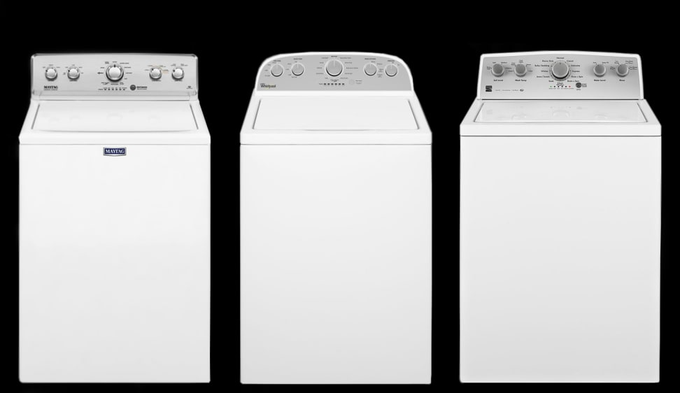 These Maytag, Whirlpool, and Kenmore washers look the same.