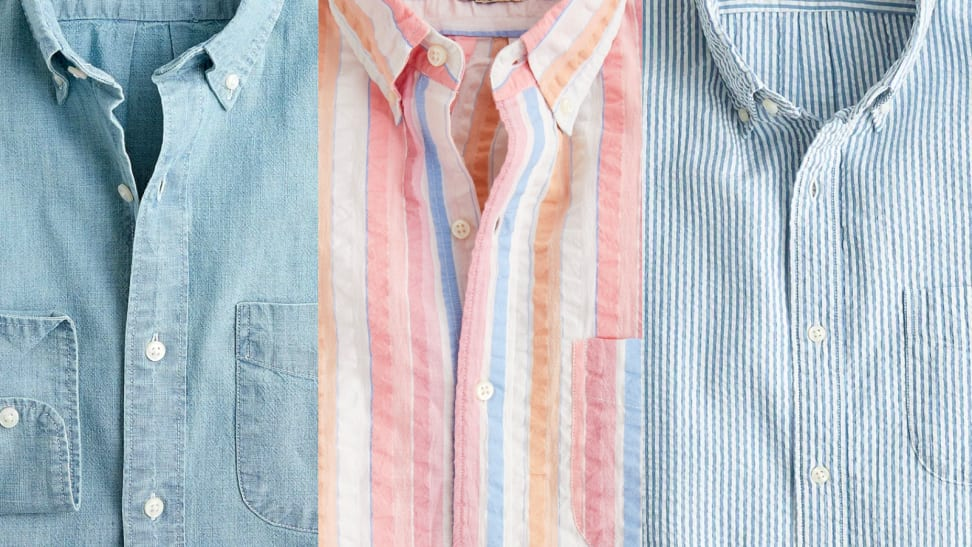 Seersucker and chambray shirts from J. Crew