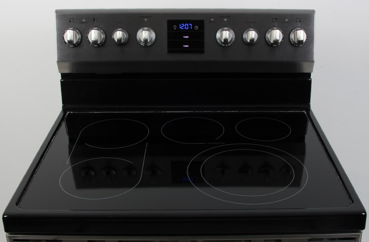 electric range top. The Frigidaire Professional FPEF3077QF Has A Glass-ceramic Electric Rangetop . Range Top