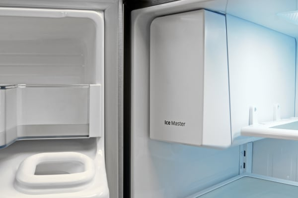 The Samsung RF23HTEDBSR's slim icemaker doesn't take up much room, but it's a pain to open.