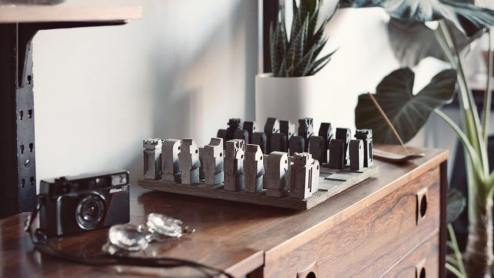Concrete chess set