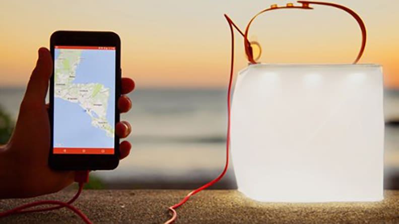 LuminAid lamp charger