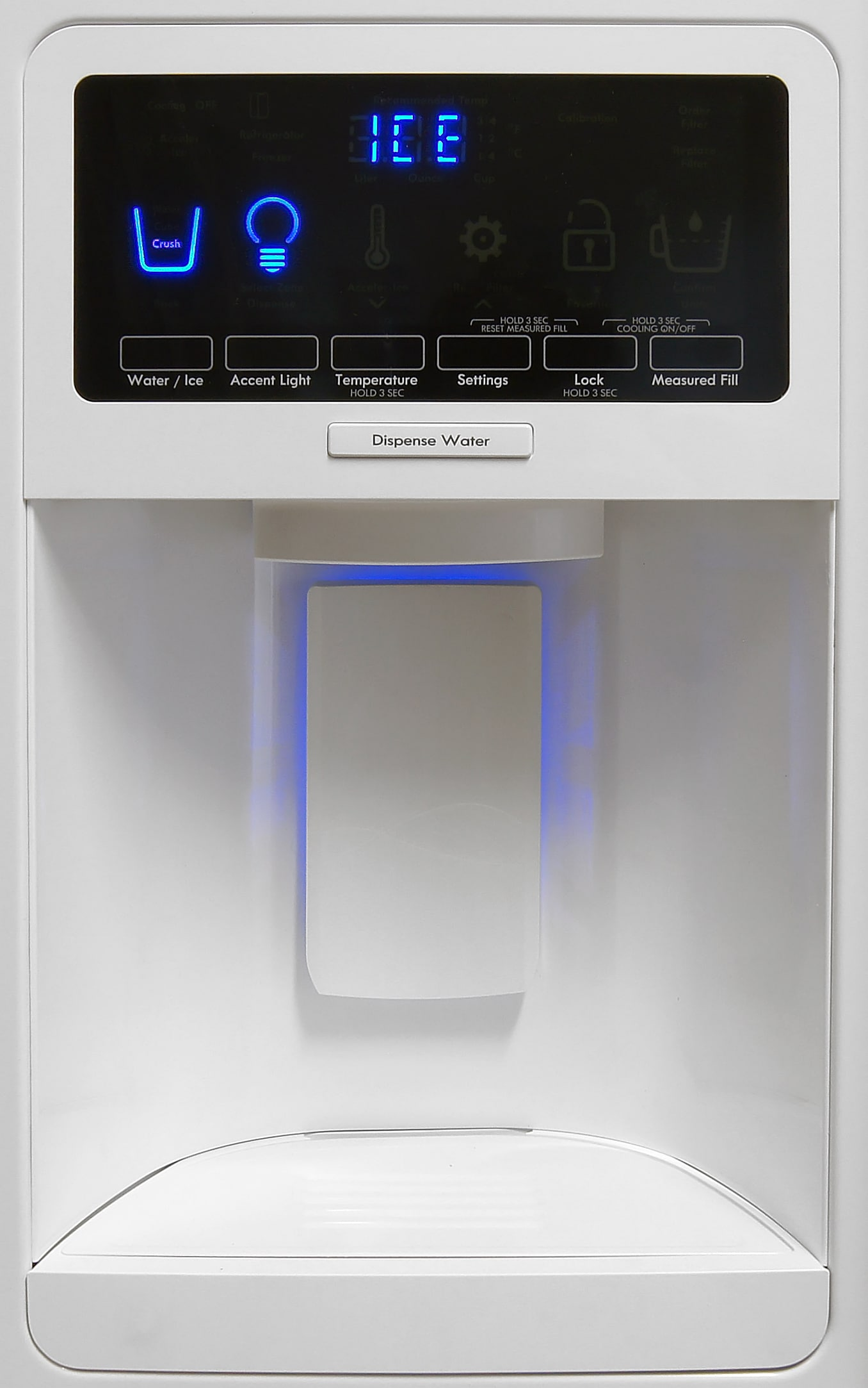 The Kenmore Elite 51162's controls may be a bit cumbersome, but the dispenser itself works effortlessly.