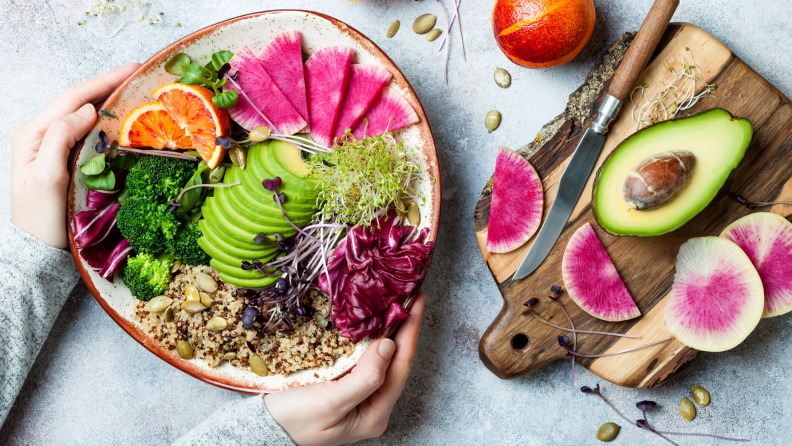 Buddha bowl with sprouts