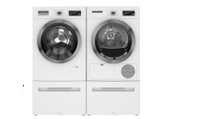 Washer and dryer set from Bosch.