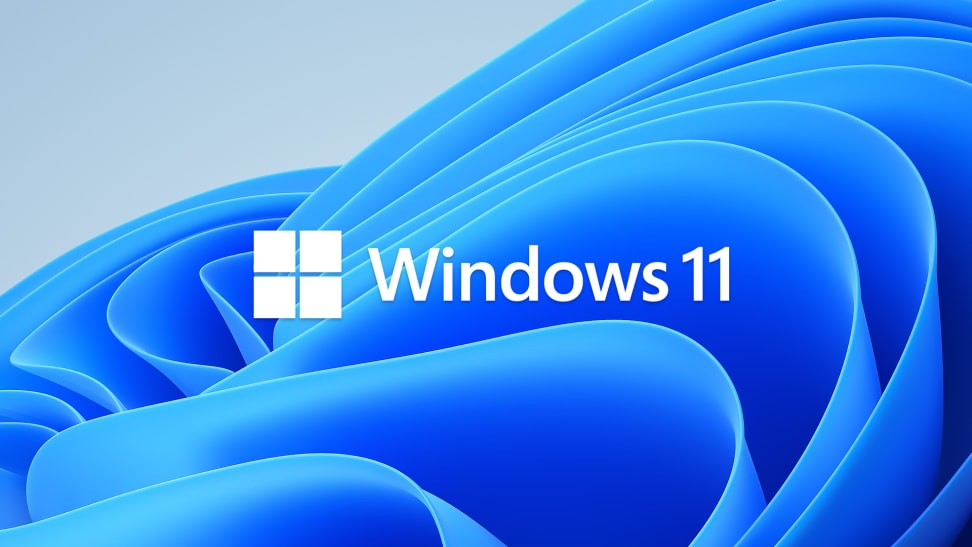 The windows 11 logo with blue waves in the background