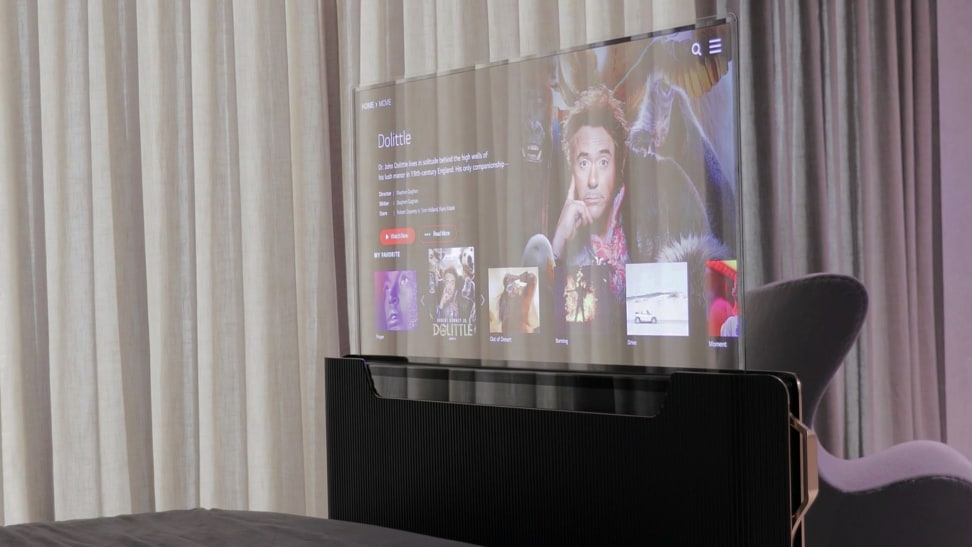 The 55-inch transparent OLED Smart Bed from LG