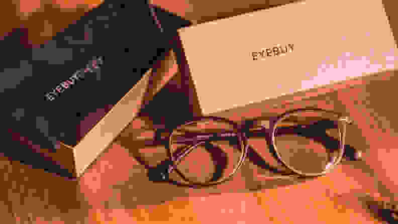 A pair of eyeglasses from EyeBuyDirect