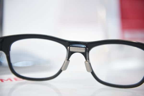 A view through the looking glass of the Jins Meme smart glasses