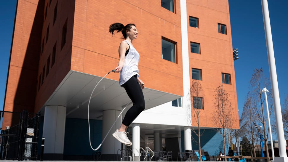 woman jumping rope with crossrope