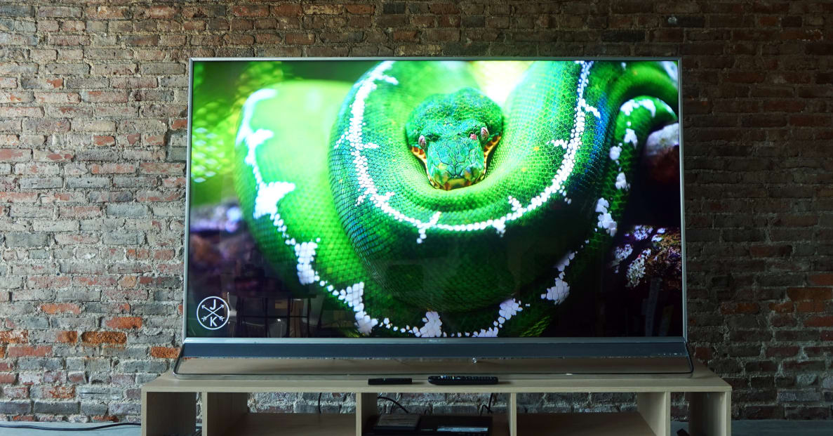 The 75-inch Hisense H10D presents a formidable picture