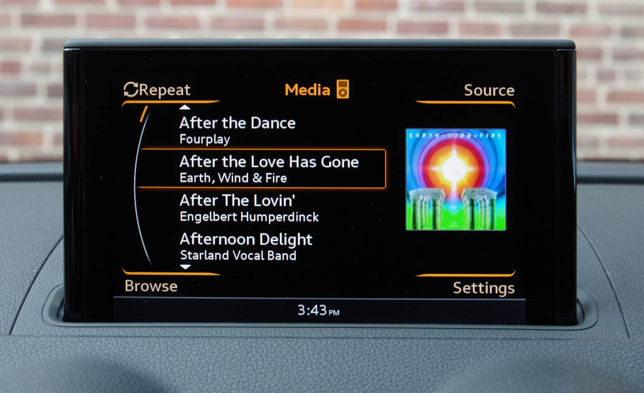 Audi A3 audio screen