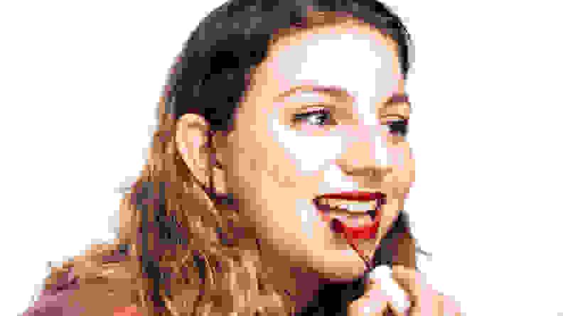 Applying Lip Soufflé Matte Lip Cream