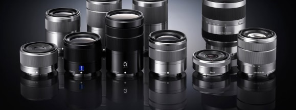Sony e mount lenses hero