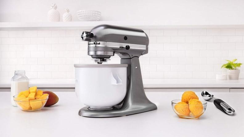 KitchenAid ice cream stand mixer attachment
