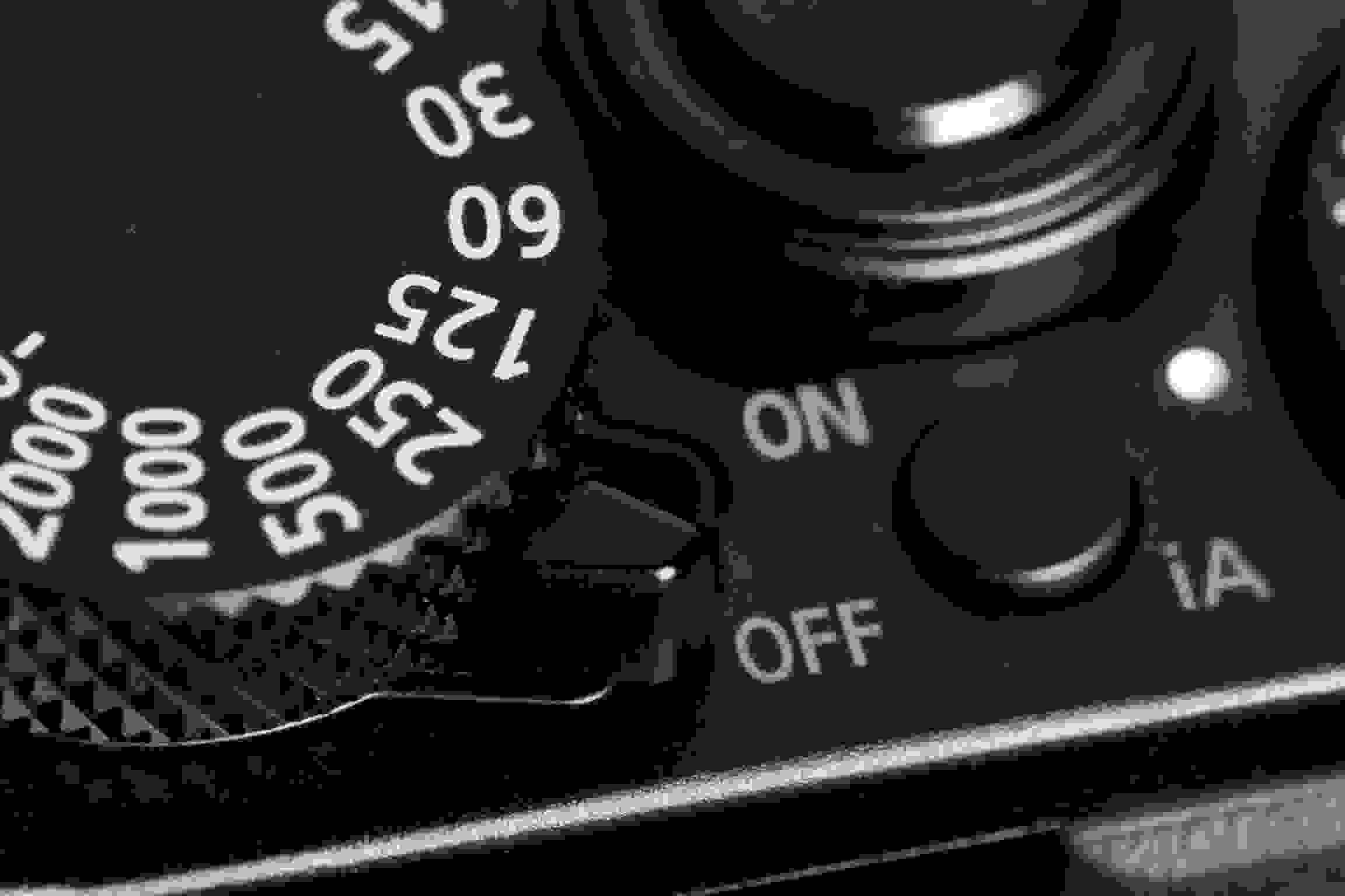 A photograph of the Panasonic Lumix LX100's power switch.