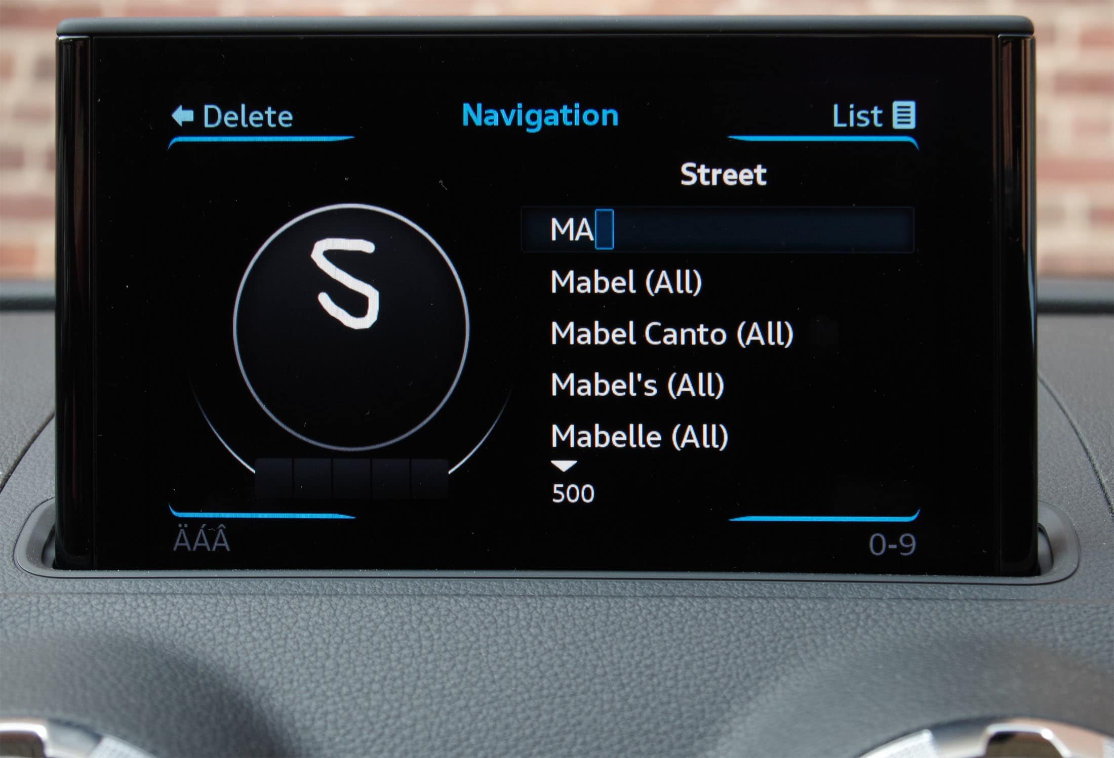Audi handwriting recognition