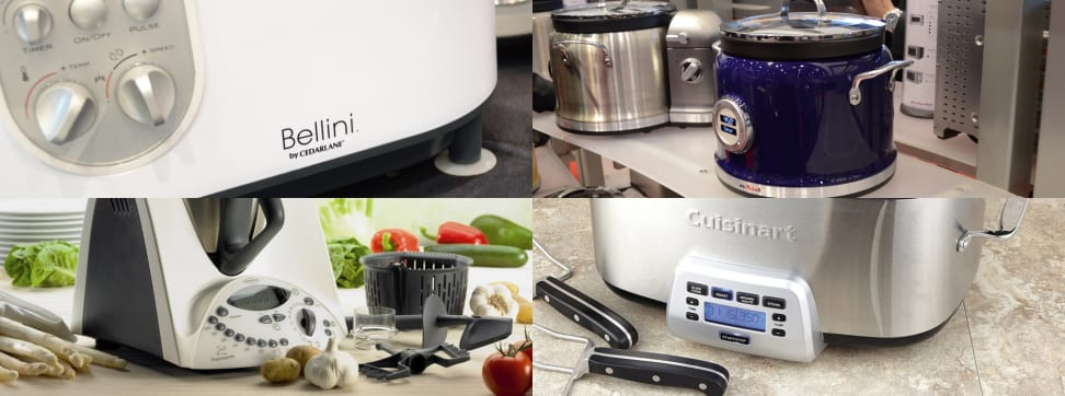 An image of four different multi-cookers.
