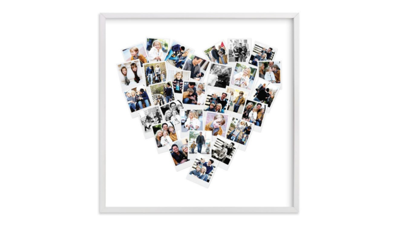 Best engagement gifts: Custom heart photo art