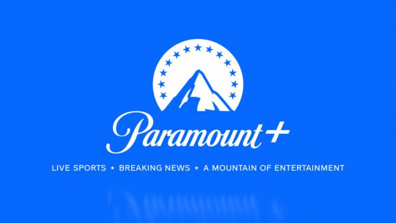 The blue Paramount+ logo.