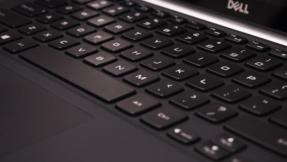 Dell's keyboard features more travel than the competition, and the result is an excellent typing experience.