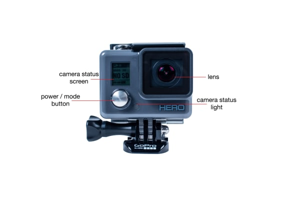 Front view of the GoPro Hero (2014)