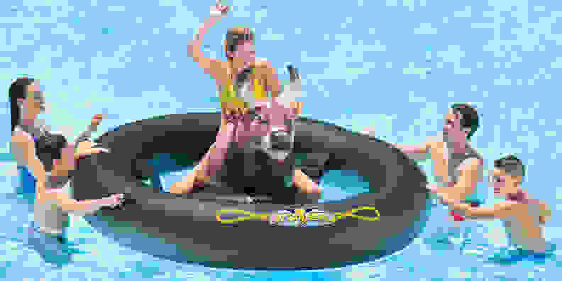 Inflat-a-Bull Pool Float