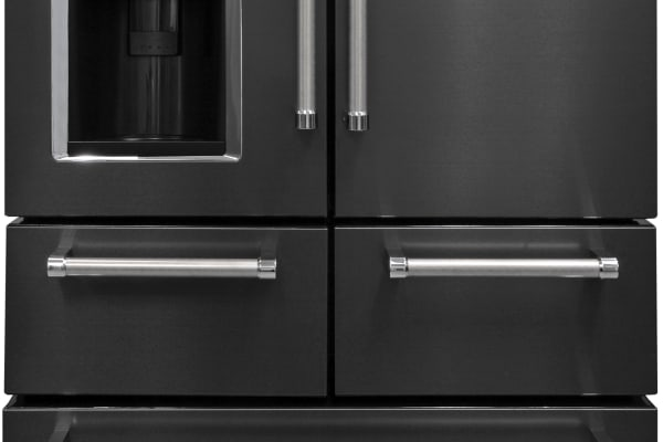 The KitchenAid KRMF706EBS: A five-door, black stainless steel fridge? Sounds crazy, but it looks amazing.