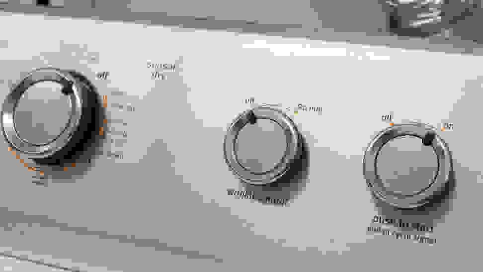 Maytag-MEDC465HW-controls