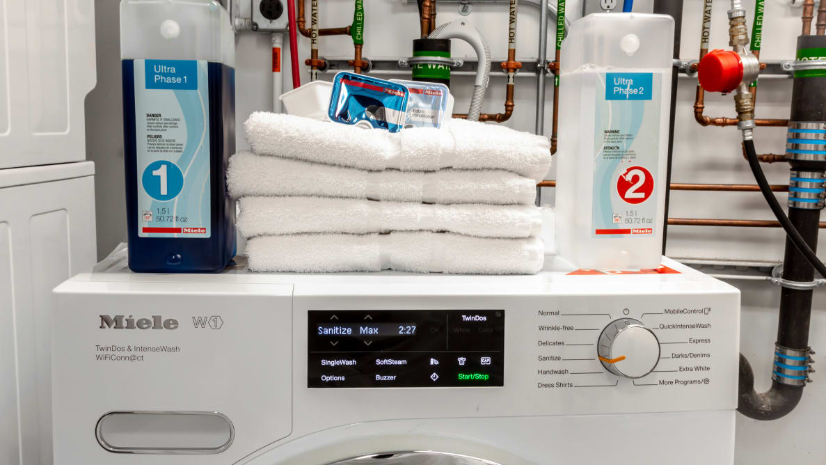 The Miele WWH860 is one of the best compact washers around.