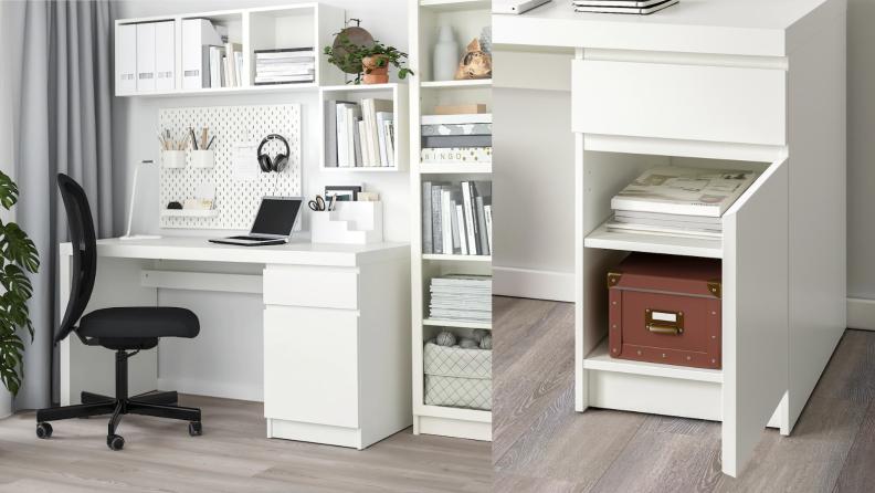 White malm desk