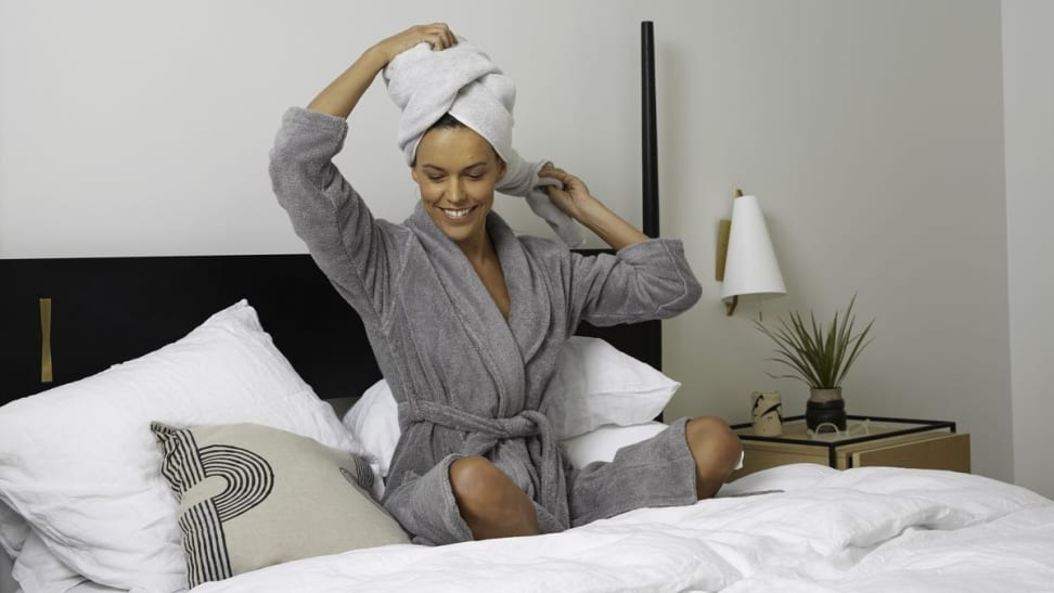 A plush, luxurious bathrobe is a must-have for every adult.