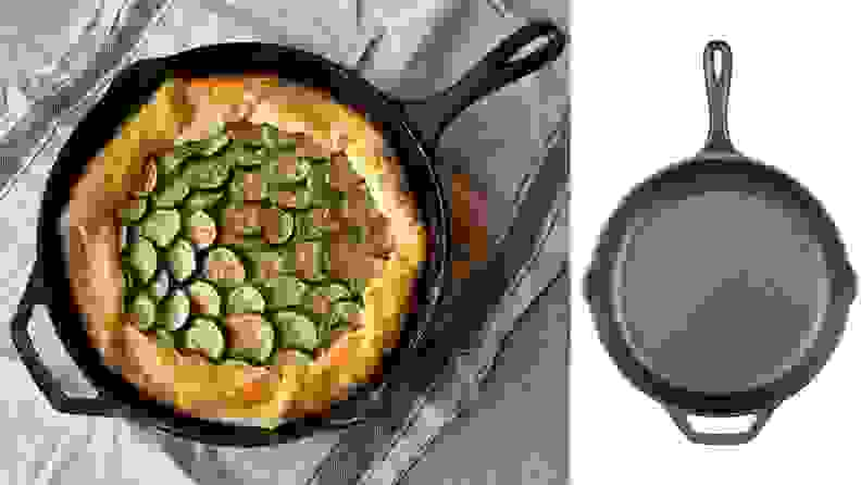 Lodge makes reliable cast iron skillets that won't break the bank.
