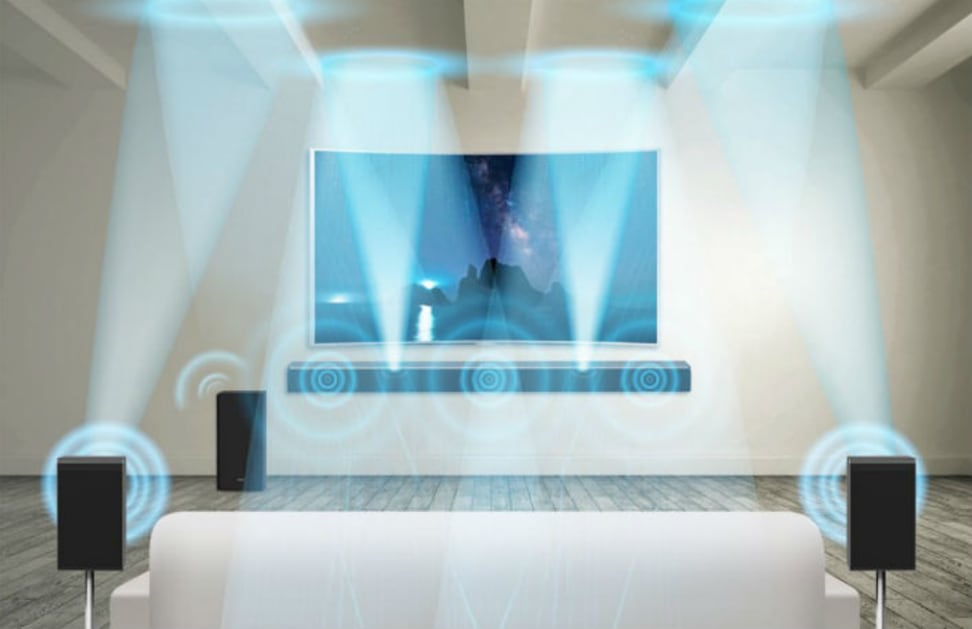 At CES, Samsung Electronics revealed a new soundbar featuring Dolby Atmos technology for its Wireless Audio 360 audio series.