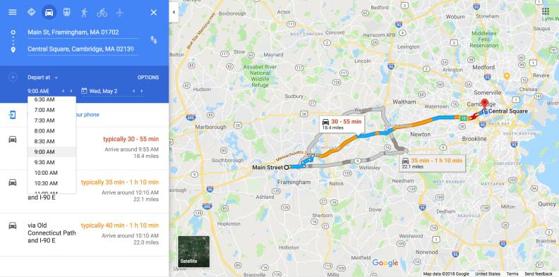 3. Google Maps Commuting