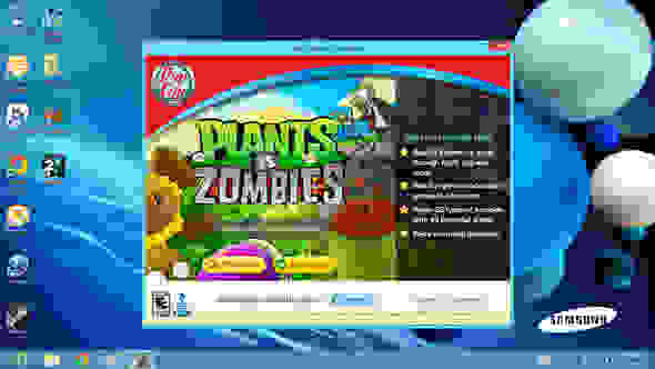 Plants vs. Zombies is included, but it's only a trial version.