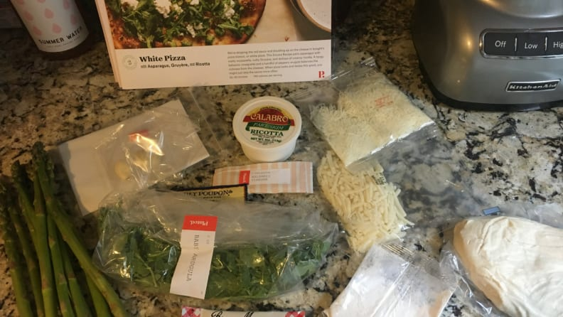 Plated Pizza Ingredients