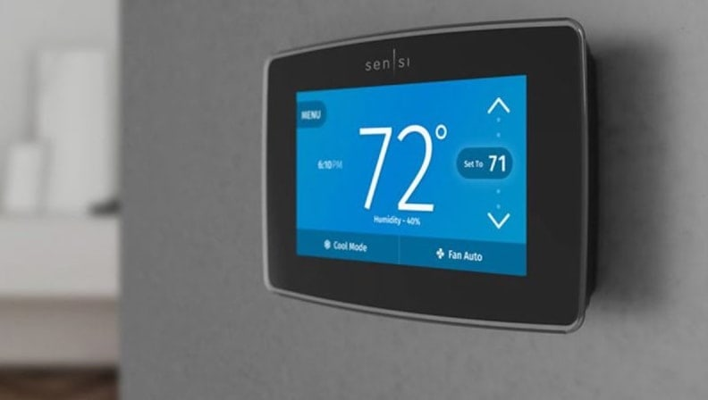 The Emerson Sensi Touch Wi-Fi Thermostat
