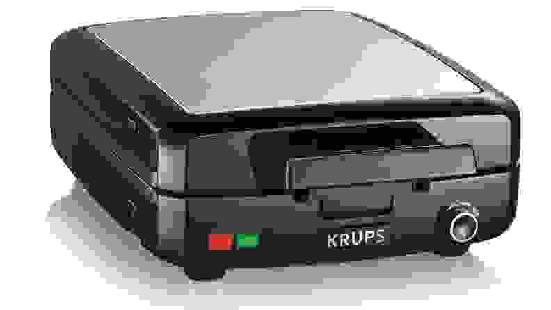 The Krups GQ502D51 4 Slice Belgian Waffle Maker