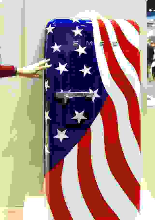 SMEG flag refrigerator