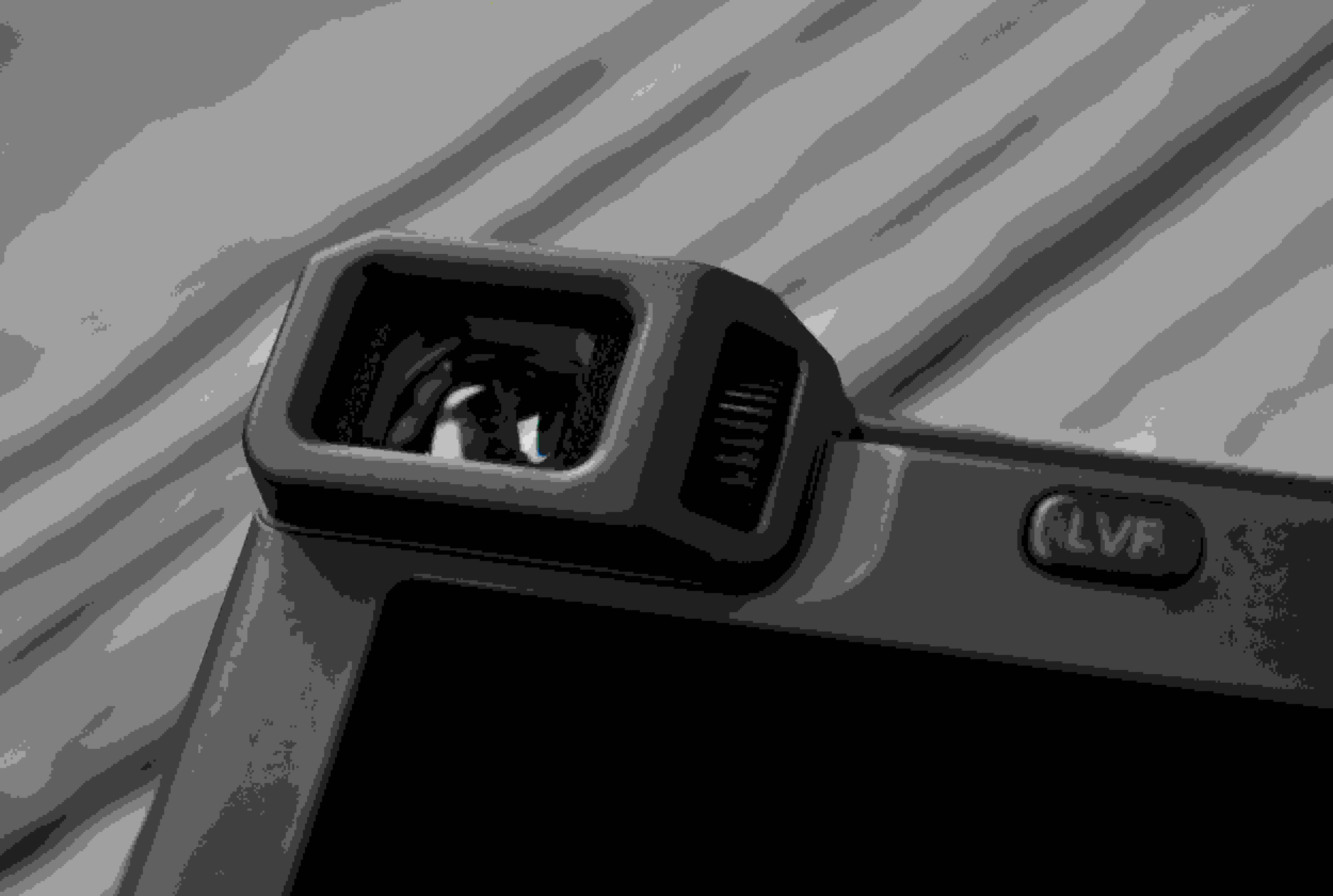 A picture of the Panasonic Lumix ZS40's viewfinder.